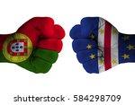 portugal vs  cape verde | Shutterstock . vector #584298709
