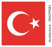 turkey flag vector | Shutterstock .eps vector #584299081