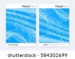 scientific brochure design... | Shutterstock .eps vector #584302699