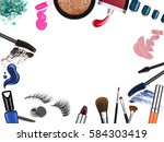 set of professional cosmetic... | Shutterstock . vector #584303419