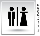 male and female sign icon ... | Shutterstock .eps vector #584304259