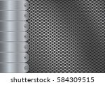 metal perforated background...
