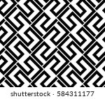 the geometric pattern with... | Shutterstock . vector #584311177