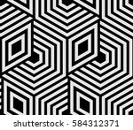 abstract geometric pattern with ... | Shutterstock . vector #584312371