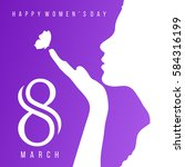 happy women's day women face... | Shutterstock .eps vector #584316199