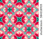 seamless floral vintage pattern | Shutterstock .eps vector #584318935