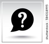 warning attention speech bubble ... | Shutterstock .eps vector #584318995