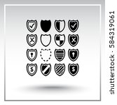 shield sign icons  vector... | Shutterstock .eps vector #584319061