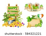 wood board and elements on st....   Shutterstock .eps vector #584321221