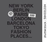 capital of the world   new york ... | Shutterstock .eps vector #584331334