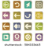 arrow vector icons for user... | Shutterstock .eps vector #584333665