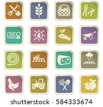agriculture vector icons for... | Shutterstock .eps vector #584333674