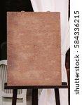 wedding guest list on wooden...   Shutterstock . vector #584336215