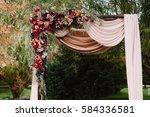 autumnal wedding arch... | Shutterstock . vector #584336581