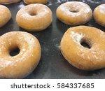 glazed donuts background image. ... | Shutterstock . vector #584337685