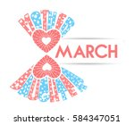 greeting card women's day march ...   Shutterstock .eps vector #584347051