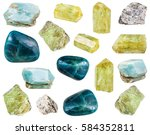 collection of various polished... | Shutterstock . vector #584352811