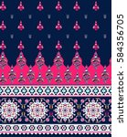 floral seamless pattern. ethnic ... | Shutterstock .eps vector #584356705