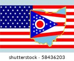 the national flag of the united ... | Shutterstock .eps vector #58436203