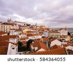 lisbon  portugal   january 10 ... | Shutterstock . vector #584364055