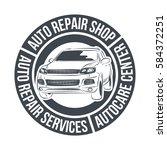 auto repair services badge...   Shutterstock .eps vector #584372251