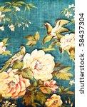 Closeup Of Retro Tapestry...
