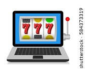 online casino  icon. vector... | Shutterstock .eps vector #584373319