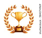 trophy award isolated icon | Shutterstock .eps vector #584374969