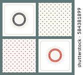spring vector typographic... | Shutterstock .eps vector #584381899