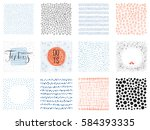 set of abstract square... | Shutterstock .eps vector #584393335
