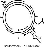 abstract round pcb style frame... | Shutterstock .eps vector #584394559