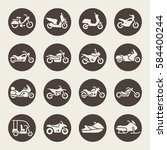 motorcycle vector icon | Shutterstock .eps vector #584400244