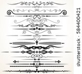 Decorative Ornament. Ornamental Rule Lines. Vector Decoration Set for Design. | Shutterstock vector #584400421