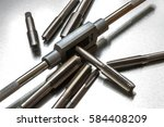 threading and tapping... | Shutterstock . vector #584408209