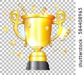 award winner concept   gold... | Shutterstock .eps vector #584408965