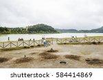 furnas fumaroles | Shutterstock . vector #584414869