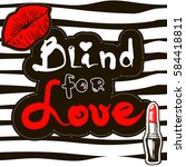 blind for love. print for t... | Shutterstock .eps vector #584418811