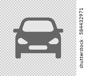 car front vector icon eps 10 on ... | Shutterstock .eps vector #584432971