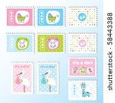 scrapbook design elements for... | Shutterstock .eps vector #58443388