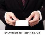 businessman show blank business ... | Shutterstock . vector #584455735