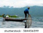 inle lake  myanmar   oct 9 ... | Shutterstock . vector #584456599