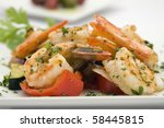 Saute Shrimps With Stir Fry...