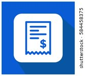 billing vector icon  money... | Shutterstock .eps vector #584458375