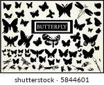 lots of butterfly vectors   Shutterstock .eps vector #5844601