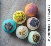 Small photo of Scope bath. Cosmetic bomb. Meant for relaxation and body care