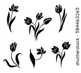 vector set of beautiful... | Shutterstock .eps vector #584463265