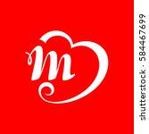 letter m logo. | Shutterstock .eps vector #584467699