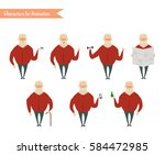 grandfather character for...   Shutterstock .eps vector #584472985
