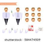 emoji face icons. boy character ... | Shutterstock .eps vector #584474509