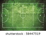 grunge field hockey field... | Shutterstock . vector #58447519